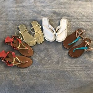Mixed brand sandals bundle